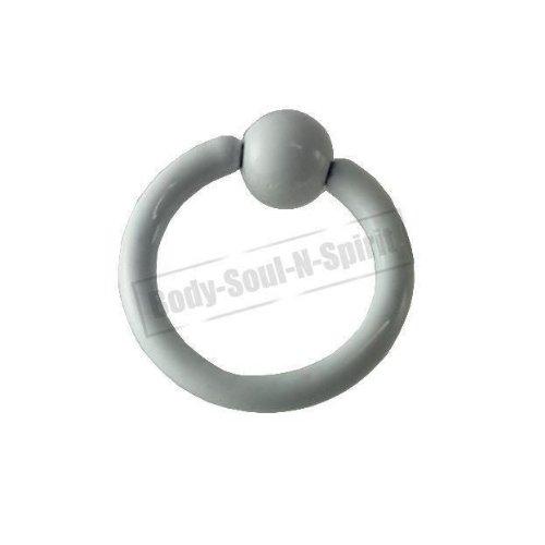 Boule Nez Lèvre Cercle BLANC 8mm BSR Perçage corps Cartilage Oreille 316L acier