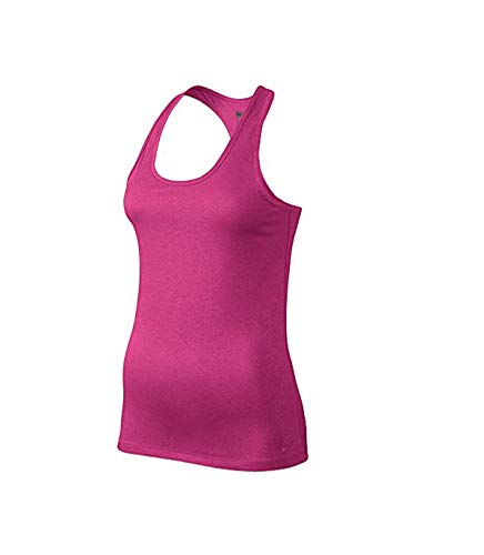 NIKE W NK Dry Damen ärmellos Tank Balance Top, Rosa (Vivid Pink), M