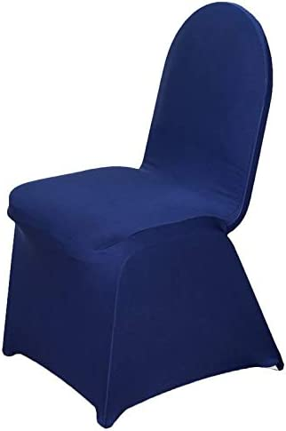 BalsaCircle 100 pcs Navy Blue Stretchable Banquet Spandex Chair Limited time cheap latest sale