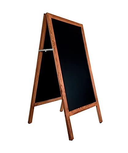 Pizarra caballete. Pizarra negra doble cara apta para tizas normales y rotuladores efecto tiza. 125 x 65 cm. Ideal para bar, restaurante, hostelería, infantil, habitación niños, etc.