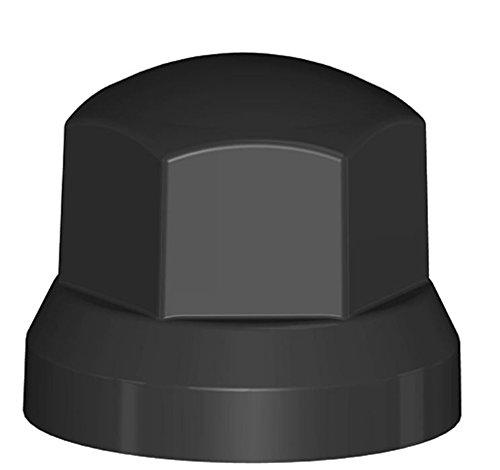 Fahrzeugbedarf Wilms Lot de 40 cache-écrous de roue en plastique noir SW 32 / 49 x 41 Vis de camion NFZ Remorque