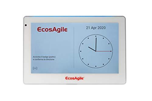 Timbracartellini rilevatore presenze dipendenti - Software Gestione Presenza incluso - Marcatempo digitale EcosAgile eClock