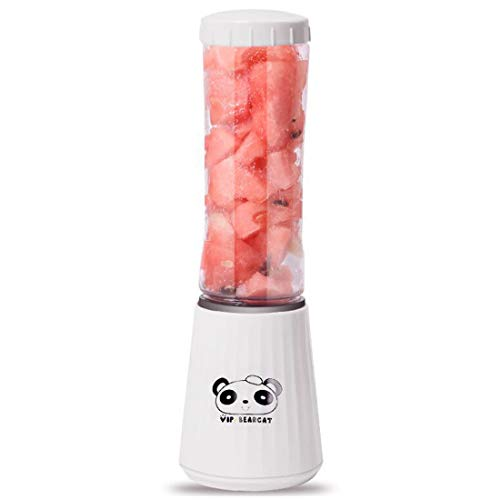 Best Review Of SSCJ Portable Blender Rechargeable Three Blades in 3D Fruit Mixing Machine with USB C...