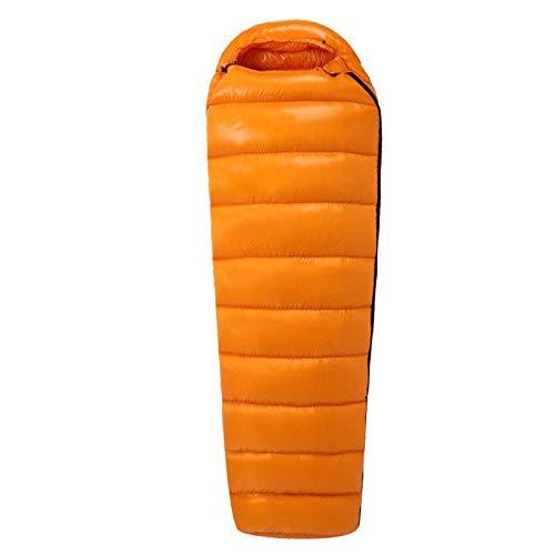 HPPSLT Randonnée Camping Adulte ultraléger Momie Duvet Sac de Couchage, Sac de Couchage extérieur Ultra-léger en Duvet pour Adulte - 1000G-2