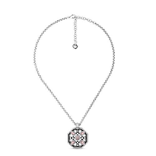 Collar Ciclòn RAVI con colgante chapado en plata y detalle de cristal de Murano artesanal