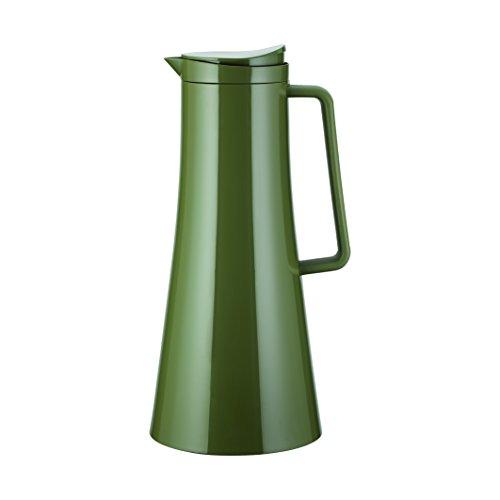 Bodum 11189-947B-Y17 Thermoskanne, Vakuum-Isolierung, 13.3x13.5x30.5 cm Kaffeekannen, Keine Angabe, Olive Green, 13.41 x 14.5 x 30.51 cm