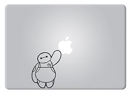 Baymax Touching Applel Big Hero 6 Disney Apple Macbook Decal Vinyl Sticker Apple Mac Air Pro Retina Laptop sticker