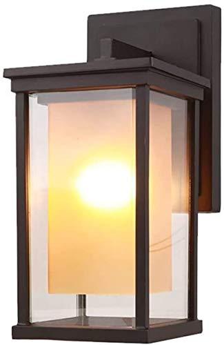 Aplique de pared industrial LED, Clásico americano retro impermeable al aire libre lámpara de pared accesorio vintage jardín pared escono aluminio metal iluminación vintage e27 edison vidrio linterna