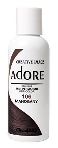 Adore Semi-Permanent Haircolor #106 Mahogany 4 Ounce (118ml)