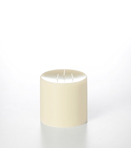 Yummi 5x5 Unscented Column Pillar Candle, Ivory, ea