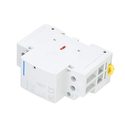 63A Contactor AC Carril Din 2 polos, 220V / 230V AC contactor 1NO 1NC 50 / 60HZ (220V/230V)