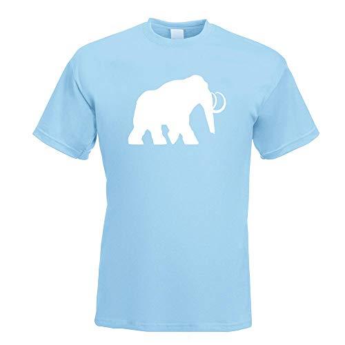 Kiwistar - Camiseta de Mammut con diseño de animales de trompa y elefante en 15 para hombre, con texto en alemán y motivos, parte superior de algodón, tallas S, M, L, XL, XXL, azul celeste, L