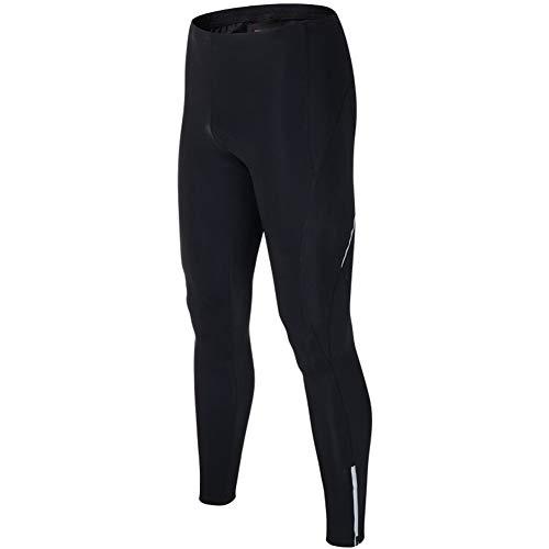 Lesrly-Cycle Men's Cycling Bike Pants, Bike Breathable Long Leggings, 3D Padded Bike Tights, for MTB Riding, Black,Black,XXL