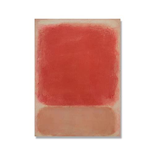 Póster de exposición de arte de Mark Rothko, impresiones de pintura al óleo abstracta, arte de pared moderno nórdico, lienzo sin marco familiar, pintura A1 60x90cm