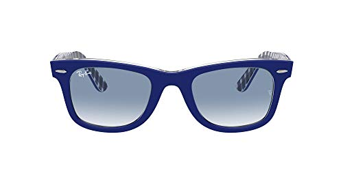 Ray-Ban 0RB2140 Gafas, BLUE ON VICHY BLUE/WHITE, 54 Unisex