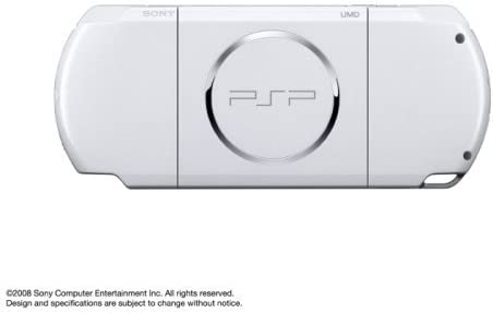 Sony PSP Slim and Lite 3000 Series Handheld Gaming Console with 2 Batteries (White)(Renewed)