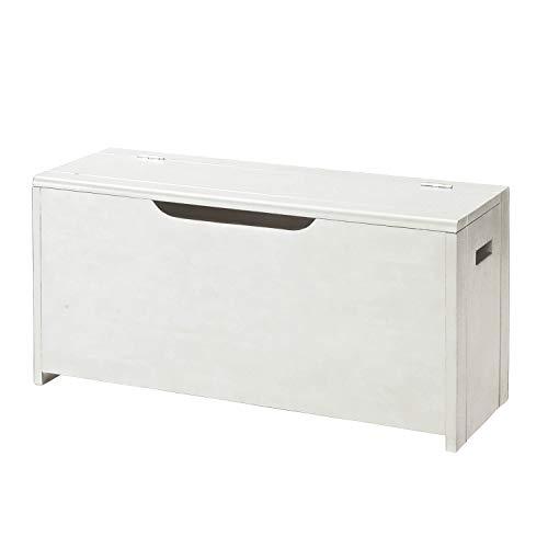 [ベルメゾン] 収納ベンチ 玄関ベンチ 木製 完成品 収納 椅子 ホワイト 幅90cm