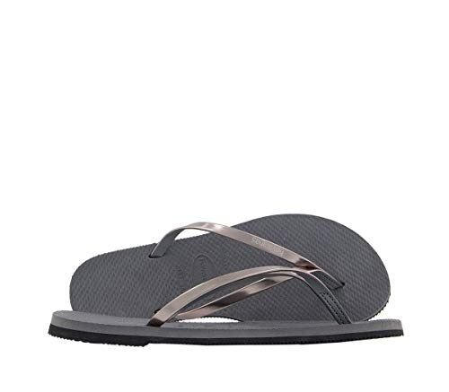 Havaianas You Metallic, Sandalias para Mujer, Plateado (Steel Grey), 37/38 EU