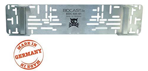BOCAST Edelstahl Kennzeichen Schnellwechselhalter PKW 520mm für Österreich UND Deutschland passend