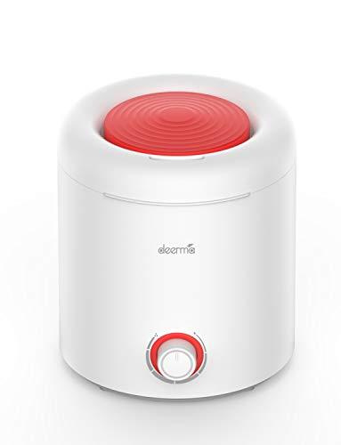 Deerma Top Fill Cool Mist Humidifier 2 in 1 Ultrasonic Humidifiers for bedroom with 360° Rotatable Mist Outlet, 2.5L Water Tank, Auto Shut Off, Adjustable Mist, Whisper Quiet for Home office, Red