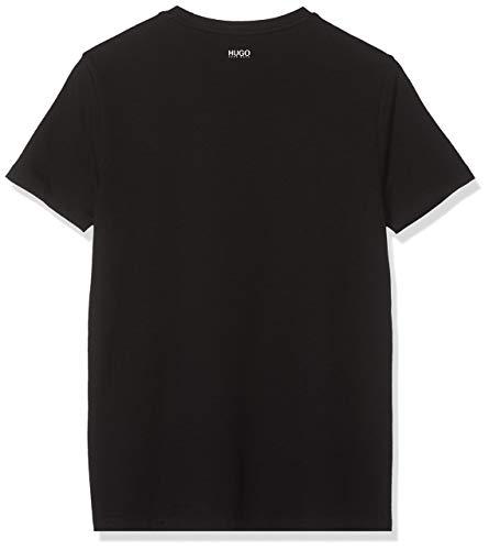 HUGO Herren Round T-Shirt, Schwarz (Black 001), Large (Herstellergröße: L)