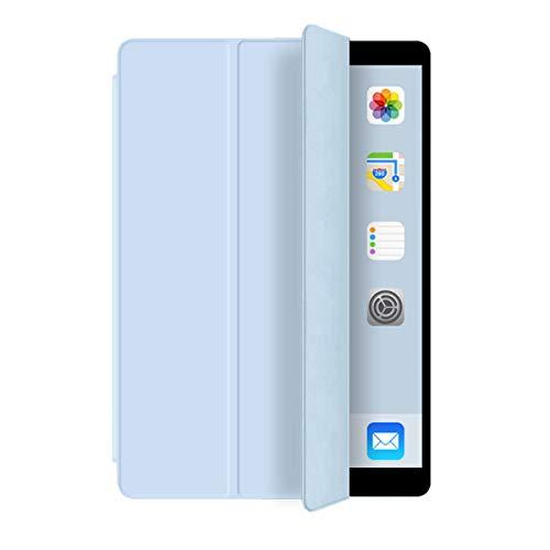 ZOYU iPad 9.7 inch 2018 iPad 6th Generation / 2017 iPad 5th Generation Case - Ultra Slim Lightweight Stand Case [Auto Sleep/Wake] Soft TPU Back Smart Cover 9.7 inch case for iPad 2017 2018 - White ice