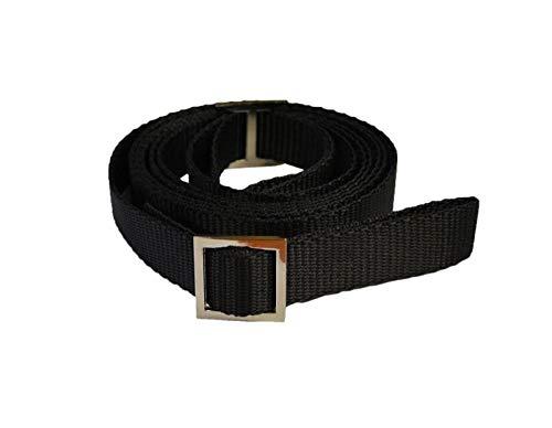 Rulyt POPRUHY-TAZNE1 - Correa para trineos Unisex con Hebilla de Metal, Color Negro, Talla única