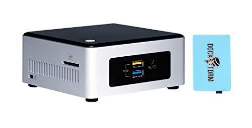 Intel NUC NUC5CPYH Home and Business Desktop White (Intel Celeron N3060 2-Core, 8GB RAM, 256GB SATA SSD, Intel HD Graphics, WiFi, Bluetooth, 4xUSB 3.0, 1xHDMI, SD Card, Win 10 Pro) with USB Hub