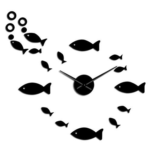 3D DIY reloj de pared acrílico espejo pared pegatinas sala cuarzo aguja reloj decoración del hogar reloj de Pared 50 cm
