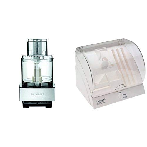 Cuisinart DFP-14BCNY 14-Cup Food Processor, Brushed Stainless Steel and Cuisinart BDH-2 Blade and Disc Holder Bundle