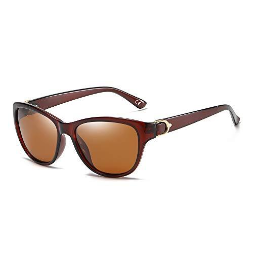 BLEVET Gafas de Sol De Moda Polarizadas Para Mujer Protección UV400 BX007 (Brown Frame Brown Lens)