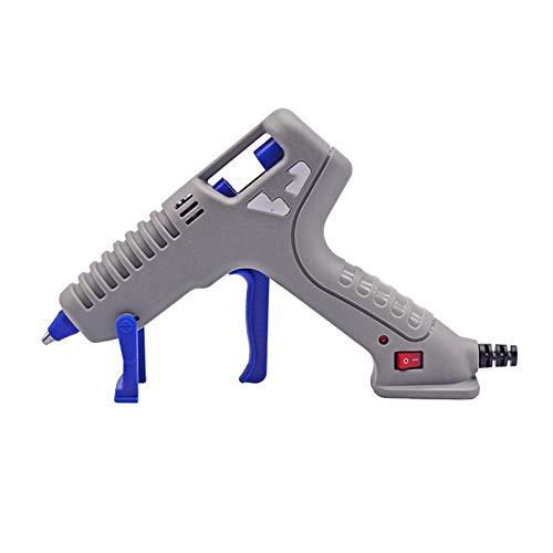 SMX Betere versie lijmpistool Met 60pcs lijmsticks, 50W Hot lijmpistool Blue snelle opwarming for de doe-Craft Projects en Binnenlandse Quick Repairs (Color : Gray)