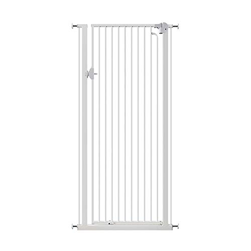 Read About WCBIN Easy Open Extra Tall Baby Safety Gates, Easy Close Walk Through Gate with Pet Door,...