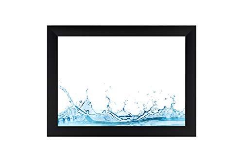 ByMoris A+ 90x120 cm Bilderrahmen in Farbe Schwarz Matt mit Antireflex-Acrylglas