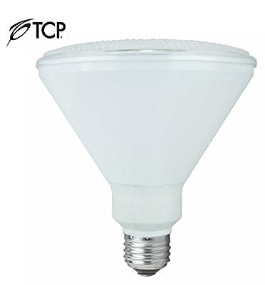 TCP RLP38MOTION LED PAR38 Floodlight Weatherproof 90 Watt Equivalent | Motion Sensor Light Bulb |, Bright White |