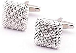 اكسسوارات مجوهرات بتصميم ازرار معدنية مربعة الشكل لاكمام القمصان بتصميم عصري انيق للرجال
