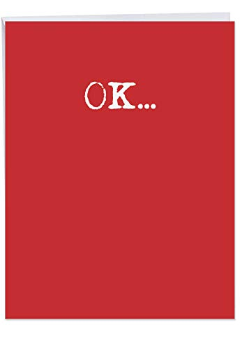 NobleWorks, Funny Valentines Card for Adults (8.5 x 11 Inch) - Big Naughty Greeting Card for Valentine's Day - Wash It Text J7063VDG