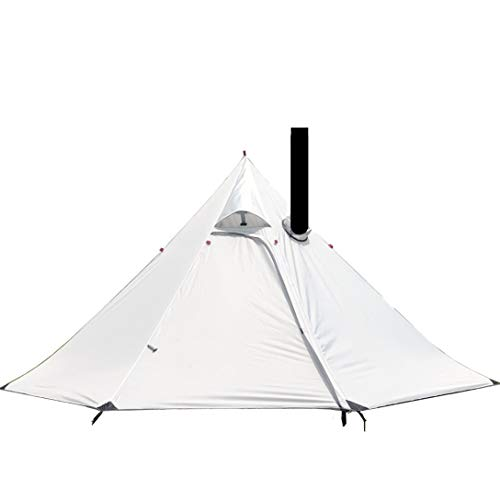Preself 3 Person Lightweight Tipi Tent Hight Wind Resistance Teepee Tents Hot Tent for Family Team Outdoor Backpacking Camping Hiking