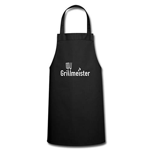 Spreadshirt Grillen Grillmeister Grillbesteck Kochschürze, Schwarz