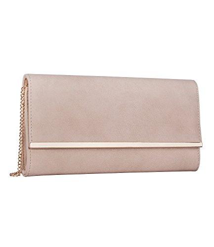 SIX Elegante Clutch: Abendtasche aus Kunstleder [Abendtasche für Frauen & Mädchen] – Handtasche für Hochzeit » elegant & hochwertig « Damen Umhängetasche – Kettentasche – Tasche (427-630)