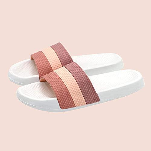 CHEXIAOyg Chancletas Zapatillas Planas de baño Verano, Sandalias al Aire Libre de Suela Gruesa, Zapatillas de baño y masajes en el baño-Khaki / Male_44 / 45, Soft Sole Pool Shoes Baño