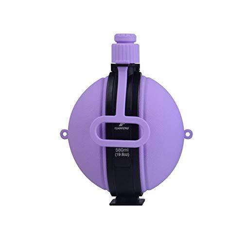 Botella De Agua Militar Plegable Cantimplora De Silicona Hervidor De Agua De Nuevo Diseño Con Tapa De Botella De Agua Vintage Compass Drinkware, Púrpura, 580 Ml