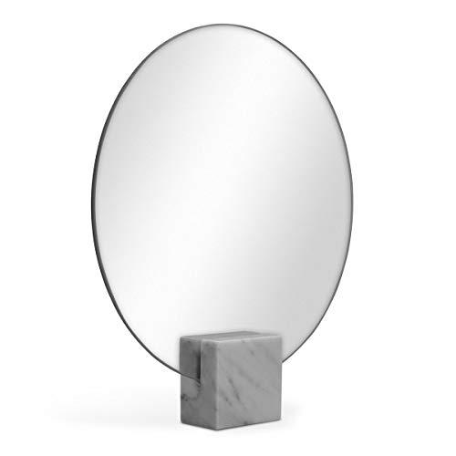 PHOTOLINI Spiegel Rund 30 cm Durchmesser Standspiegel ohne Rahmen | Stehspiegel | Tischspiegel