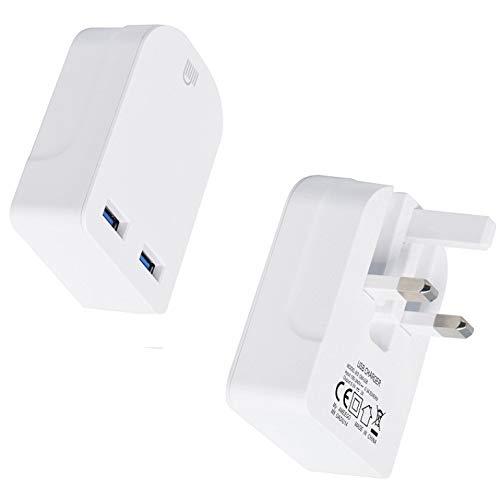 Amo TheMax Universal-USB-Ladegerät mit 3-poligem UK-Stecker, 3100 mAh, mit Smart-IC-UK-Stecker für iPhone/iPad/iPod/Samsung Galaxy Tab/HTC/Windows Phone/Tablet etc.
