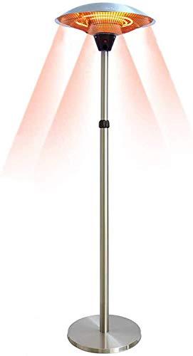 Mlxy Eléctrico Estufa Infrarrojo Calefactor De Terraza,Calentador De Sombrilla De Patio,Altura Ajustable 160-210 Cm,2200W/3000W con 3 Niveles De Calefacción,para Garajes De Pérgola Interior