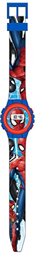 Kids Licensing |Reloj Digital para Niños | Reloj Marvel | Diseño Spiderman | Reloj Infantil Resistente | Reloj de Pulsera Ajustable | Bisel Reforzado | Reloj de Aprendizaje | Licencia Oficial