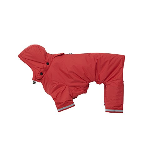 Kruuse Buster Aqua wasserfester Hunde Regenmantel (XX-Small) (Rot)