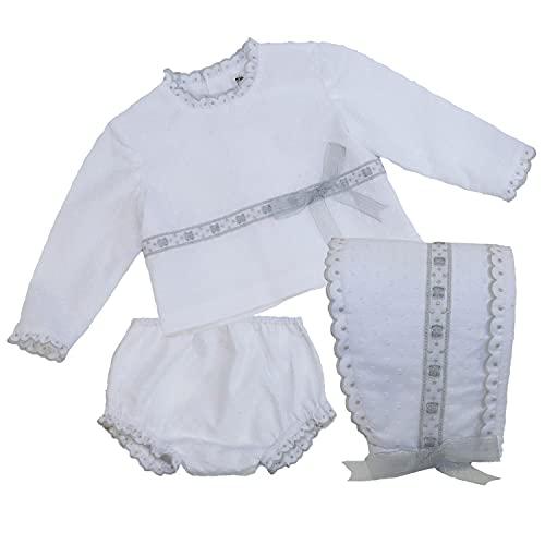 MI HIJA Y YO Canastillas Conjuntos ropa bebé unisex tres piezas de 3-6 meses Colección Adrielle