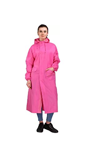 Tryo Unisex Full Length Raincoat (Pink, Free Size)