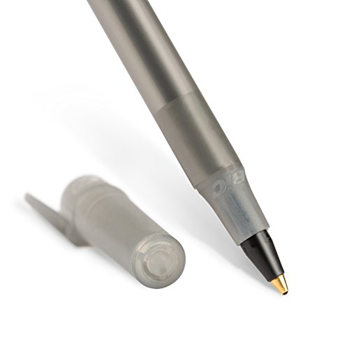 BIC Round Stic Xtra Life Ballpoint Pen, Black